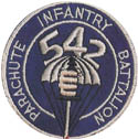 542nd Parachute Infantry Regiment Shoulder Patch