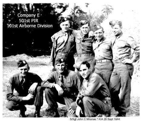 S/Sgt John C Milonas and other member of Co E 501st PIR